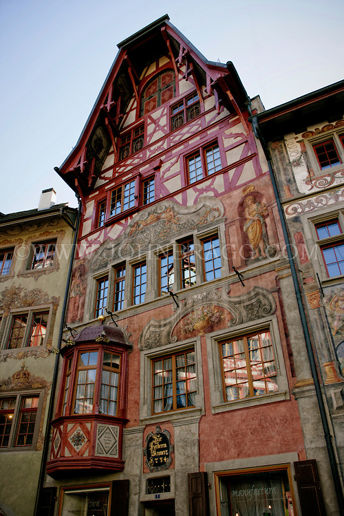An ornate tudor style building, Stein am Rhein, Switzerland