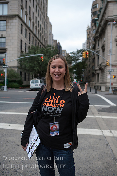 Lisa Bos, World Vision USA, at the Global Citizen Festival in New York City