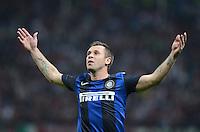 FUSSBALL INTERNATIONAL   SERIE A   SAISON  2012/2013   7. Spieltag AC Mailand  - Inter Mailand                     07.10.2011 JUBEL; Cassano Antonio (Inter Mailand)