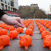 FREE PICTURE :  Piggy Banks in Edinburgh<br /> <br /> Picture Robert Perry 15th April 2019<br /> <br /> Please credit photo to Robert Perry<br /> <br /> Image is free to use in connection with the promotion of the above company or organisation. 'Permissions for ALL other uses need to be sought and payment make be required.<br /> <br /> <br /> Note to Editors:  This image is free to be used editorially in the promotion of the above company or organisation.  Without prejudice ALL other licences without prior consent will be deemed a breach of copyright under the 1988. Copyright Design and Patents Act  and will be subject to payment or legal action, where appropriate.<br /> www.robertperry.co.uk<br /> NB -This image is not to be distributed without the prior consent of the copyright holder.<br /> in using this image you agree to abide by terms and conditions as stated in this caption.<br /> All monies payable to Robert Perry<br /> <br /> (PLEASE DO NOT REMOVE THIS CAPTION)<br /> This image is intended for Editorial use (e.g. news). Any commercial or promotional use requires additional clearance. <br /> Copyright 2019 All rights protected.<br /> first use only<br /> contact details<br /> Robert Perry   <br /> <br /> pictures@robertperry.co.uk  <br /> <br /> <br />        <br /> Robert Perry reserves the right to pursue unauthorised use of this image . If you violate my intellectual property you may be liable for  damages, loss of income, and profits you derive from the use of this image.