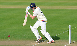 Durham's Mark Stoneman flicks the ball off the bowling of Somerset's Lewis Gregory.- Photo mandatory by-line: Harry Trump/JMP - Mobile: 07966 386802 - 12/04/15 - SPORT - CRICKET - LVCC County Championship - Day 1 - Somerset v Durham - The County Ground, Taunton, England.