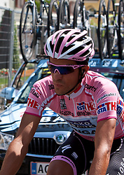 21-05-2011 WIELRENNEN: GIRO D ITALIA: MONTE ZONCOLAN<br /> Alberto Contador (ESP) Saxo Bank Sungard<br /> *** NETHERLANDS ONLY***<br /> ©2011-FotoHoogendoorn.nl/EXPA/J. Feichter