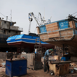 Shipyard in Callao, Peru.