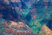 Evening light in Waimea Canyon (Grand Canyon of the Pacific), Waimea Canyon State Park, Kauai, Hawaii
