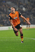 Jake Livermore of Hull City upset at missing his shot at goal  during the Sky Bet Championship match between Hull City and Bolton Wanderers at the KC Stadium, Kingston upon Hull, England on 12 December 2015. Photo by Ian Lyall.