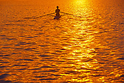 Rowing on Lake Ramsey at sunrise<br />