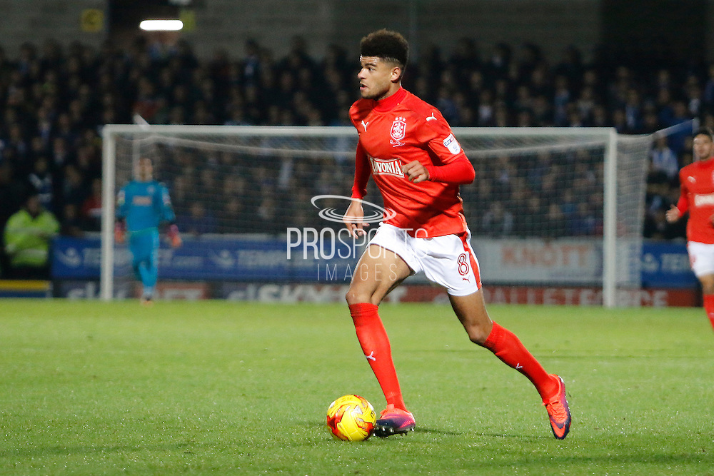 Huddersfield's Philip Billing (8) during the EFL Sky Bet Championship match between Burton Albion and Huddersfield Town at the Pirelli Stadium, Burton upon Trent, England on 13 December 2016. Photo by Richard Holmes.