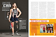 Cover and spreads for USA Triathlon Magazine