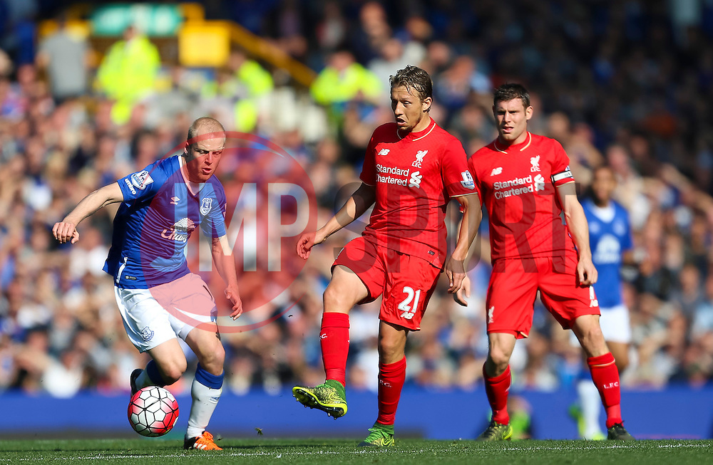 Lucas Leiva of Liverpool in action  - Mandatory byline: Matt McNulty/JMP - 07966 386802 - 04/10/2015 - FOOTBALL - Goodison Park - Liverpool, England - Everton  v Liverpool - Barclays Premier League