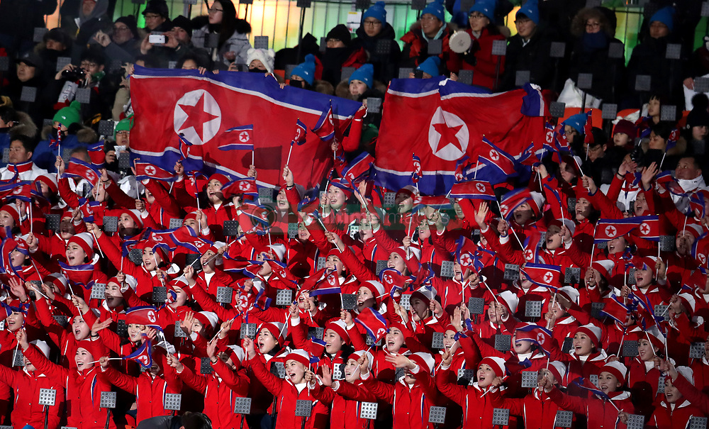 North Korean delegates ahead of the the Opening Ceremony of the PyeongChang 2018 Winter Olympic Games at the PyeongChang Olympic Stadium in South Korea.