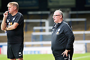 Peterborough manager Steve Evans looking exasaparated during the Pre-Season Friendly match between Peterborough United and Bolton Wanderers at London Road, Peterborough, England on 28 July 2018. Picture by Nigel Cole.