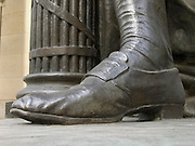 sculpted foot of George Washington the first president of the USA