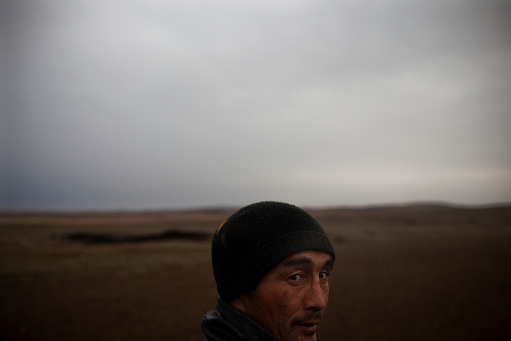 CREDIT: DOMINIC BRACCO II..SLUG:PRJ/KAZAKHSTAN SHEEP HERDERS..DATE:10/22/2009..CAPTION:Zhumatai Muzdybayev works out on the steppe near Semey, Kazakhstan. The herders live near a radio active lake which was made during the 1970s as part of an experiment by the USSR to create lakes from atomic bombs. The lake is in an area known as The Polygon, a test site for more than 400 of the Soviet Union's nuclear weapons.