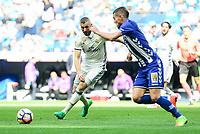 Real Madrid's Karim Benzema during La Liga match between Real Madrid and Deportivo Alaves at Stadium Santiago Bernabeu in Madrid, Spain. April 02, 2017. (ALTERPHOTOS/BorjaB.Hojas)