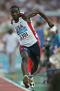 Melvin Lister of the United States finished ninth in his group in the triple jump qualifying at 54-6 1/2 (16.62m) in the 2004 Olympics in Athens, Greece on Friday, August 20, 2004.
