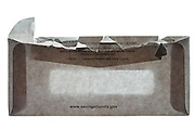 back USA Federal Reserve Bank opened envelope