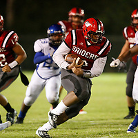 Thomas Wells | Buy at PHOTOS.DJOURNAL.COM<br /> Shannon's 295 pound running back Vincent Mcintosh gave the Aberdeen defense a big targert.