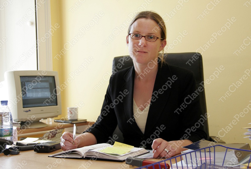 Solicitor Liz McGrath who got introduced to the courts in Ennis during the week.<br /> <br /> Photograph by Yvonne Vaughan.