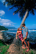 Couple at Beach, Kauai, Hawaii<br />