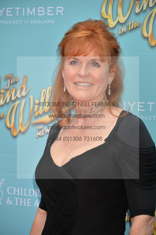 Sarah, Duchess of York arriving at The opening night of Wind in The Willows at the London Palladium, Argyll Street, London England. 29 June 2017.<br /> Photo by Dominic O'Neill/SilverHub 0203 174 1069 sales@silverhubmedia.com