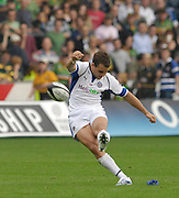 Northampton, GREAT BRITAIN, Bath'  Olly BARKLEY,  kicking a second half conversion during the Northampton Saints vs Bath Rugby,  Guinness Premiership Rugby match, at  Franklin's Gardens, Northampton, ENGLAND on 16/09/2006 [Photo, Peter Spurrier/Intersport-images].