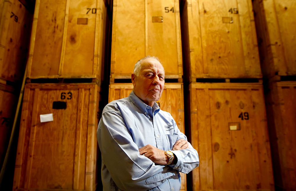 Jerry Clifton, owner of Clifton Moving and Storage, poses for a portrait in a warehouse at the business Wednesday, March 12, 2008, in Decatur, Ill. (Herald & Review/Stephen Haas)