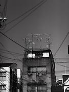 Apartment with TV antennas