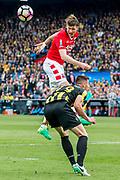 ROTTERDAM - 30-04-2017, AZ - Vitesse, finale KNVB beker, Stadion De Kuip, AZ speler Wout Weghorst, Vitesse speler Matt Miazga