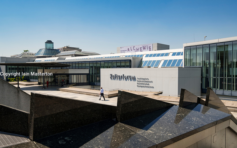 Exterior view of Kulturforum complex of museums in Berlin Germany