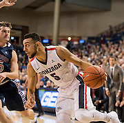 Gonzaga beat Saint Mary's 79-56 on Jan. 14 at the McCarthey Athletic Center to extend their record to 17-0. (Gonzaga University photo by Edward Bell)