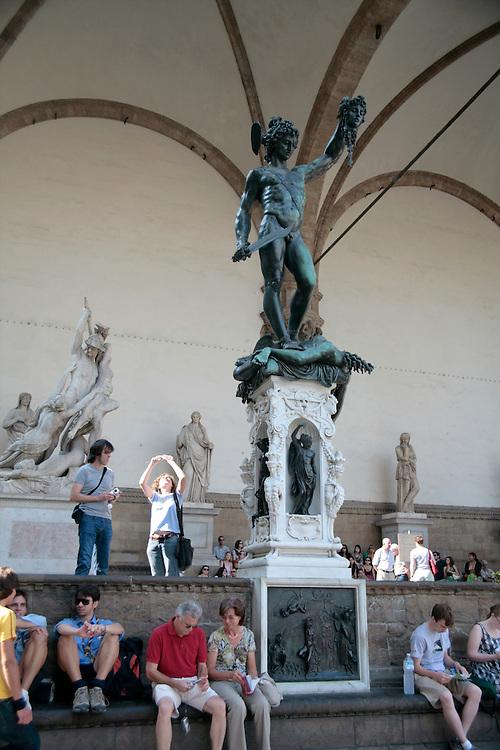 Piazza della Signoria, Rape of Sabines or Perseus, Florence, Italy, Florence, Italy