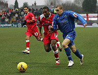 Photo: Paul Thomas.<br /> Macclesfield Town v Swindon Town. Coca Cola League 2. 23/12/2006.<br /> <br /> Ricky Shakes (L) of Swindon tries to stop Martin Bullock.