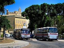 MALTA GOZO VICTORIA 21JUL06 - Gozo buses at Victoria bus station in Victoria, Gozo's capital...jre/Photo by Jiri Rezac..© Jiri Rezac 2006..Contact: +44 (0) 7050 110 417.Mobile:  +44 (0) 7801 337 683.Office:  +44 (0) 20 8968 9635..Email:   jiri@jirirezac.com.Web:    www.jirirezac.com