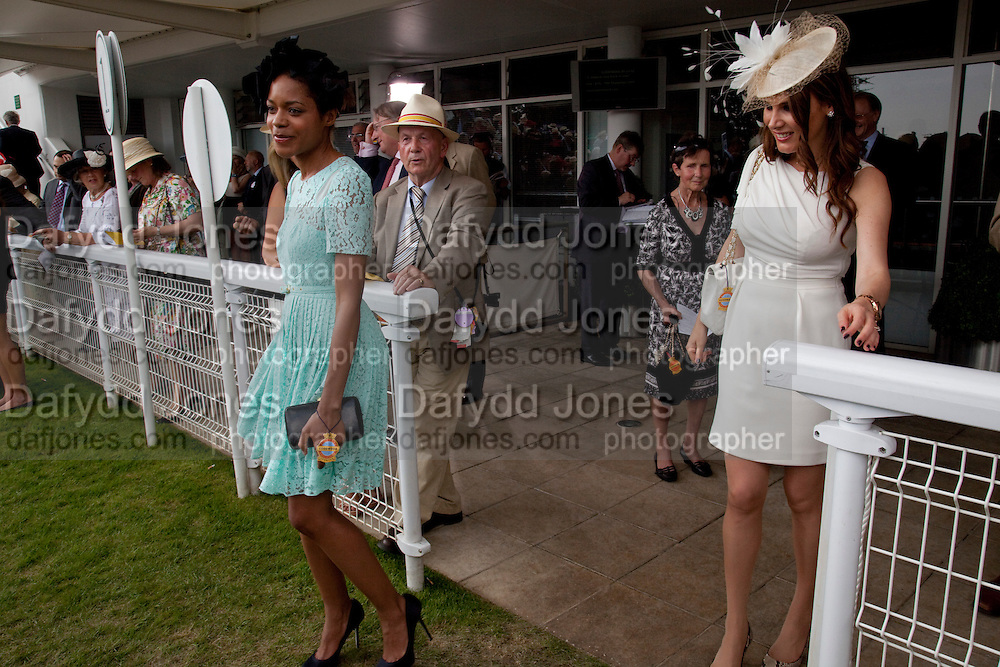 NAOMI HARRIS; MAKEUP ARTIST; TONYA MELI, Glorious Goodwood. Ladies Day. 28 July 2011. <br /> <br />  , -DO NOT ARCHIVE-© Copyright Photograph by Dafydd Jones. 248 Clapham Rd. London SW9 0PZ. Tel 0207 820 0771. www.dafjones.com.