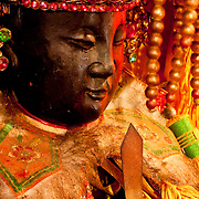 Small Mazu statue in Orthodox Lu-erh-men Temple, Tainan , Taiwan