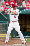 Stephen Piscotty (12) of the Springfield Cardinals stands in the batters box while at bat during a game against the Northwest Arkansas Naturals at Hammons Field on July 28, 2013 in Springfield, Missouri. (David Welker)