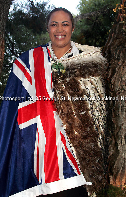 Beatrice Faumuina is announced as the New Zealand flag bearer at the opening ceremony of the Athens Olympic Games tomorrow evening at special function attended by New Zealand Olympic Team Thursday 12 August 2004. <br />