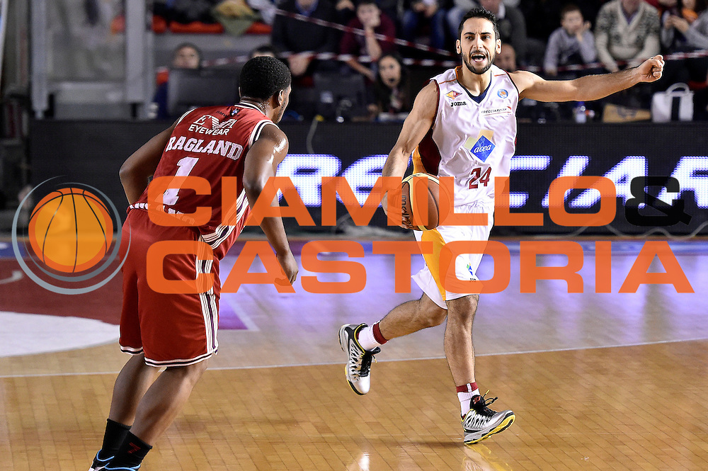 DESCRIZIONE : Roma Lega A 2014-2015 Acea Roma EA7 Emporio Armani Milano<br /> GIOCATORE : Rok Stipcevic<br /> CATEGORIA : palleggio schema<br /> SQUADRA : Acea Roma<br /> EVENTO : Campionato Lega A 2014-2015<br /> GARA : Acea Roma EA7 Emporio Armani Milano<br /> DATA : 21/12/2014<br /> SPORT : Pallacanestro<br /> AUTORE : Agenzia Ciamillo-Castoria/Max.Ceretti<br /> GALLERIA : Lega Basket A 2014-2015<br /> FOTONOTIZIA : Roma Lega A 2014-2015 Acea Roma EA7 Emporio Armani Milano<br /> PREDEFINITA :