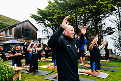 Exeter Chiefs take part in a Red Bull Day of Surfing and Yoga on Saunton Sands - Rogan/JMP - 07/08/2019 - RUGBY UNION - The Chalet Saunton - Devon, England.