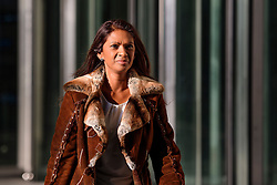 © Licensed to London News Pictures. 22/01/2017. London, UK. GINA MILLER leaves BBC Broadcasting House in London on January 22, 2017 after taking part in a radio discussion. Photo credit: Ben Cawthra/LNP