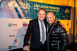 Marko Umberger and Andrej Krasevec at Slovenian Tennis personality of the year 2016 annual awards presented by Slovene Tennis Association Tenis Slovenija, on December 7, 2016 in Siti Teater, Ljubljana, Slovenia. Photo by Vid Ponikvar / Sportida