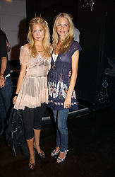 Left to right, MARISSA MONTGOMERY and POPPY DELEVINGNE at a party to celebrate Zandra Rhodes's return to London Fashion week and the launch of a limited edition of M.A.C makeup at Silver, 17 Hanover Square, London W1 on 20th September 2006.<br />