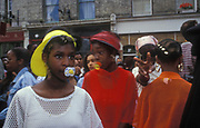 Girls with dummies in their mouths, Notting Hill Carnival.
