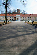 View of Vilnius/Lithuanian National Museum & King Mindaugus statue, Spring 2011