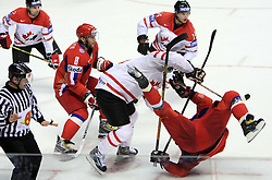 Shane Doan of Canada vs Sergei Fedorov of Russia at  ice-hockey game Canada vs Russia at finals of IIHF WC 2008 in Quebec City,  on May 18, 2008, in Colisee Pepsi, Quebec City, Quebec, Canada. (Photo by Vid Ponikvar / Sportal Images)