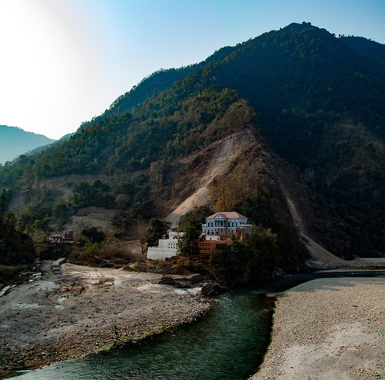 The Ranighat Durbar along the banks of the Kahli Gandaki Palpa, Nepal