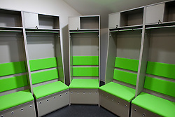 Wardrobe for home team in a Basketball arena. A week before the opening of a new football stadium and sports arena in Stozice, on August 4, 2010, in Stozice, Ljubljana, Slovenia.  (Photo by Vid Ponikvar / Sportida)