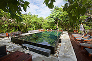 Thailand, Ko Kradan. The Sevenseas Resort. The pool.