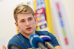 Luka Doncic at press conference of Slovenian national team before Eurobasket 2017, on August 28, 2017 in Telemach, Ljubljana, Slovenia. Photo by Matic Klansek Velej / Sportida