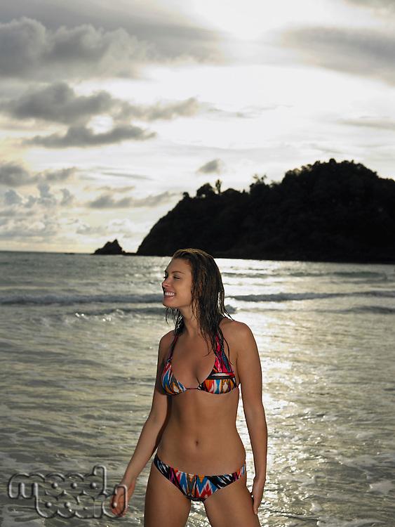 Young Woman at Beach